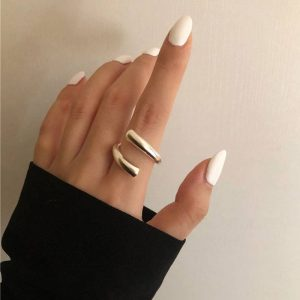 Minimalist 925 Sterling Silver Rings for Women Fashion Creative Hollow Irregular Geometric Birthday Party Jewelry Gifts