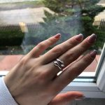 Creative Couples Engagement Opening Ring Trendy Simple Embrace Anillos Sweet Hug photo review