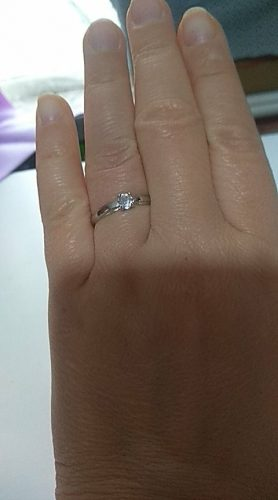 Luxury Female Small Round Stone Ring Real 925 Sterling Silver Engagement Ring Crystal Solitaire Wedding Rings for Women photo review