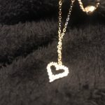 14k Real Gold Double Layer Heart Necklace Shining Bling AAA Zircon Women Clavicle Chain Elegant Charm Wedding Pendant Jewelry photo review