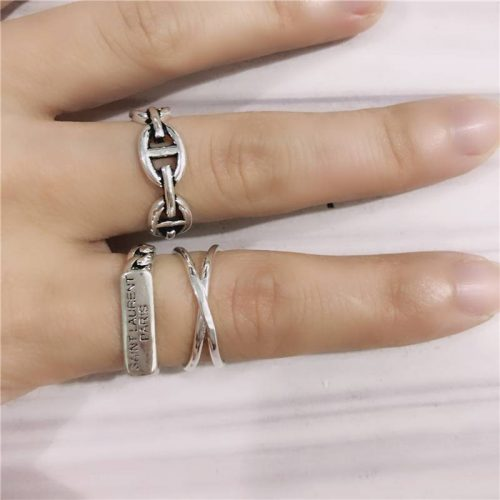 Vintage 925 Sterling Silver Cross Rings for Women Wedding Trendy Jewelry Large Adjustable Antique Rings Anillos photo review