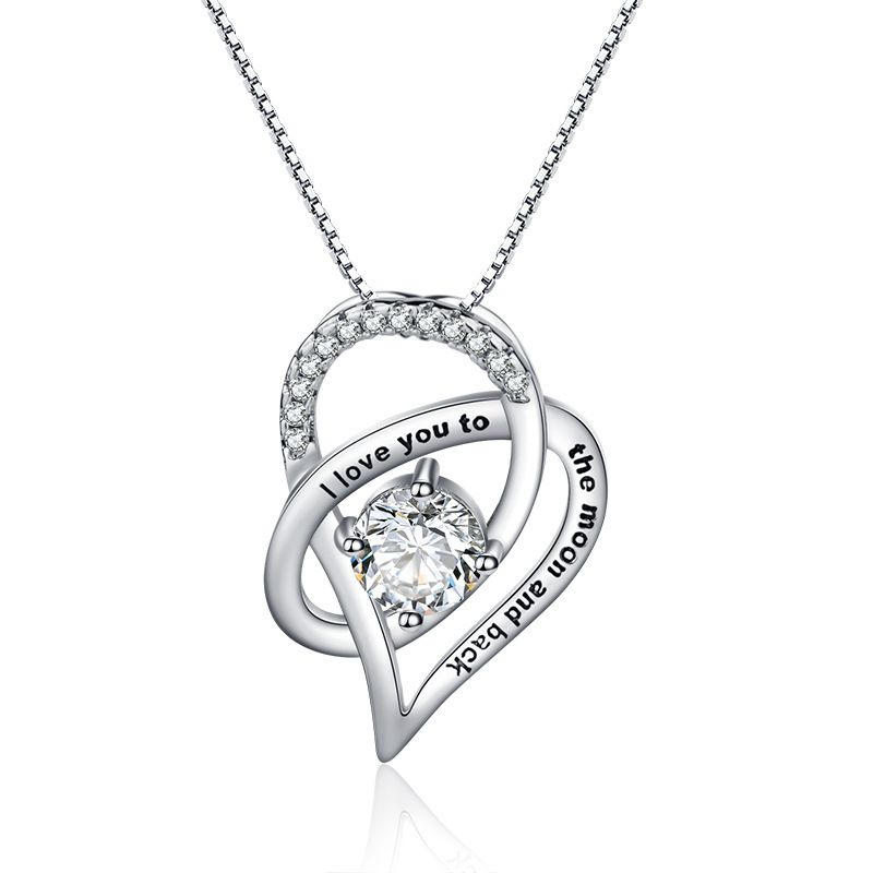 Mother's Day Gift Mother Daughter Necklace Heart Necklaces to My Mom Birthday Jewelry
