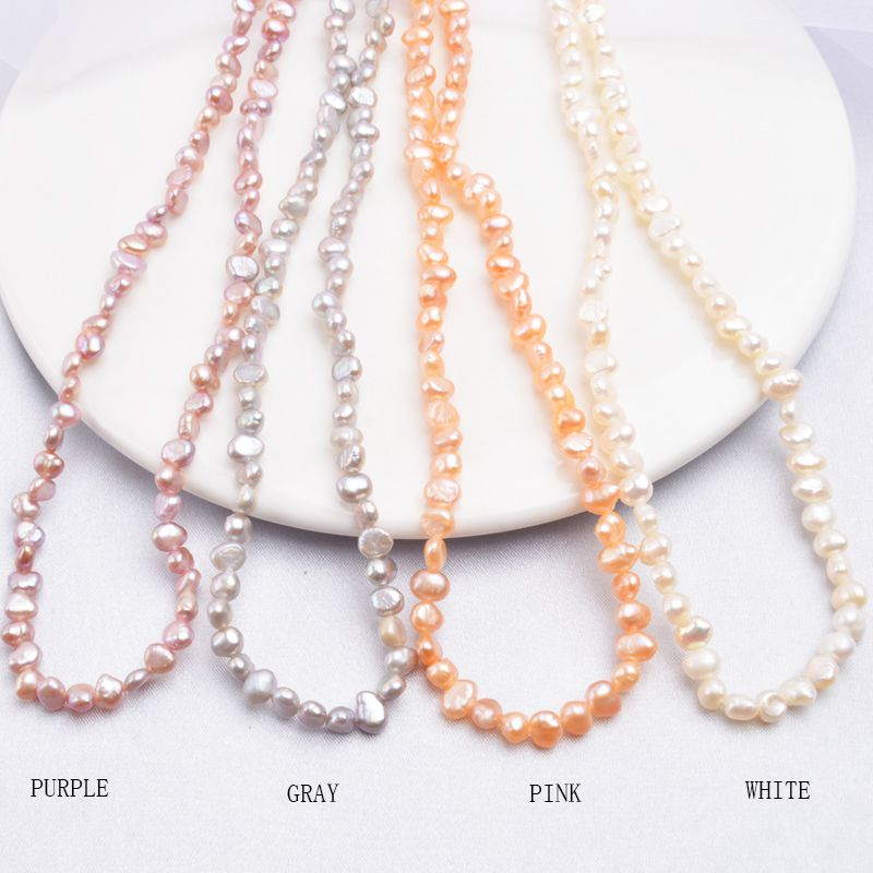 Natural Freshwater Pearl Choker Necklace Baroque Pearl Jewelry for Women wedding 925 Silver Clasp
