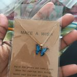 Cute Butterfly Pendant Necklace for Women Golden Color Statement Necklace Jewelry Gifts photo review