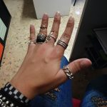 Trendy 925 Sterling Silver Chain Rings for Women Couples Vintage Handmade Twisted Geometric Finger Jewelry Party Gifts photo review