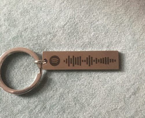 Spotify Code Personalized Music Spotify Scan Code Keychain for Women Men Stainless Steel Keyring Custom Laser Engrave Jewelry photo review