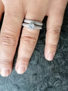 Simple Design Double Stackable Fashion Jewelry 925 Silver Rings for Women Bridal Sets Wedding Engagement Ring Accessory photo review
