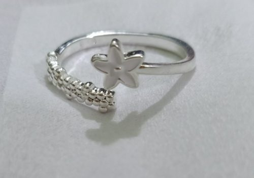 Fresh Flower 925 Sterling Silver Temperament Personality Literary Fashion Gift Korea Female Resizable Opening Rings photo review