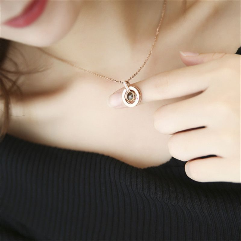 Charms Projection Custom Photo Pendant Necklace